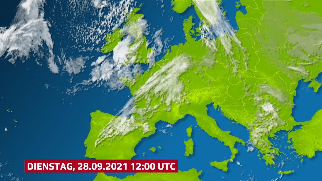 Meteosat Satellitenbild, Infrarotkanal.