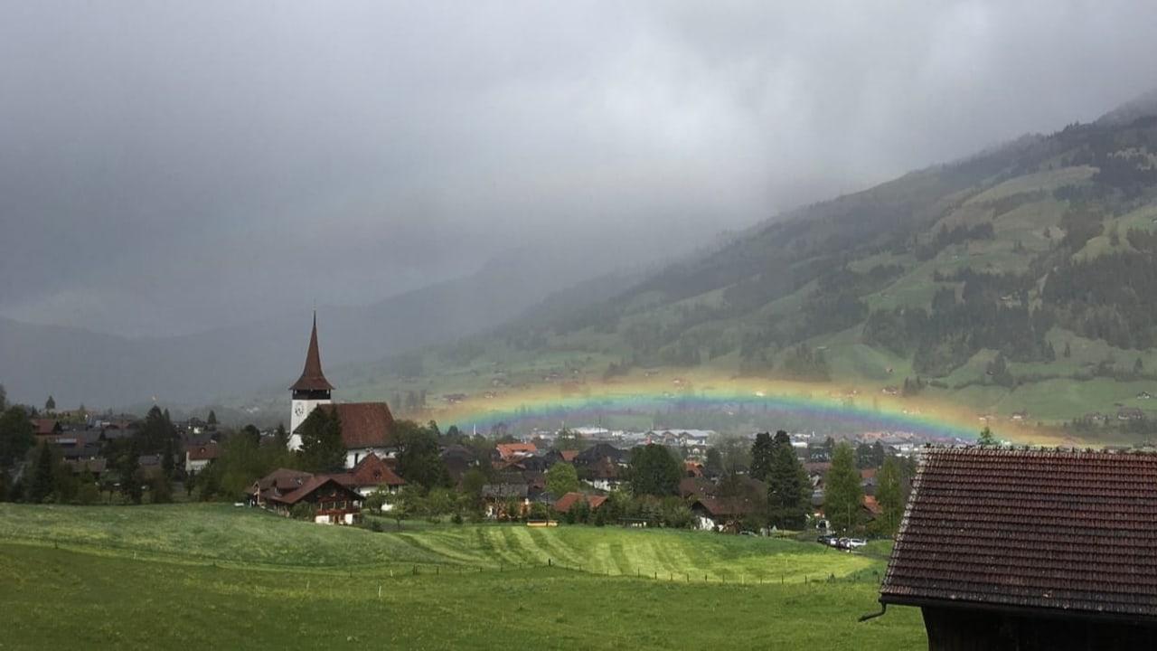 lichtspektakel am himmel  doppelter regenbogen  meteo  srf