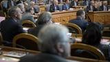 Ältere Politiker und die ausserordentliche Session (Artikel enthält Video)