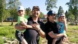 Yasmine und Max Hensler und ihre Kinder Yanne und Kimi