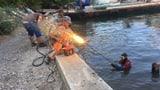 Mit der Feuerlanze im trüben Wasser schweissen (Artikel enthält Bildergalerie)