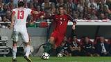 Portugal mit Ronaldo gegen die Schweiz