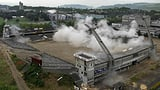 Das alte Wankdorf-Stadion stirbt mit einem grossen Knall (Artikel enthält Video)