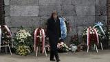 Simonetta Sommaruga besucht Auschwitz (Artikel enthält Video)