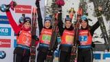 Schweizer Frauen-Staffel erneut auf dem Podest (Artikel enthält Video)