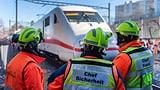 Zugstrecke zwischen Basel und Badischem Bahnhof wieder offen  (Artikel enthält Video)