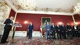 Bundespräsident vereidigt vier Spitzenbeamte zu neuen Ministern (Artikel enthält Video)