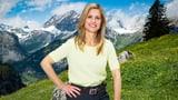 Frau Dahinden im Studio und auf der «Alpenreise». Wie geht das?