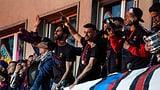 Ajeti feiert Titel mit Pyro in der Hand (Artikel enthält Video)