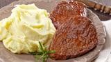 Rinds-Saftplätzli mit Kartoffelstock