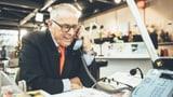 Adolf Ogi übernimmt das Spendentelefon in der Glasbox (Artikel enthält Video)