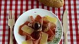 Landrauchschinken vom Weinland mit karamellisierten Zwiebelchen