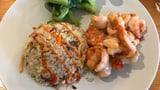 Fried Rice mit Crevetten und Pak Choi