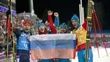 Russische Biathlon-Staffel dürfte Olympiagold verlieren