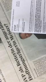 FDP und «Solothurner Zeitung» liegen sich in den Haaren (Artikel enthält Audio)