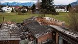 Lokales Phänomen sorgte für Sturmschäden in Montlingen (Artikel enthält Video)