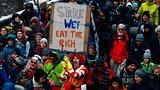 Klimaaktivisten zur Demonstration in Davos angekommen (Artikel enthält Video)