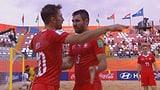 Beachsoccer-Nati startet mit Sieg in die WM (Artikel enthält Video)