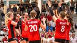 Schweizer Volleyballerinnen weiterhin auf Kurs (Artikel enthält Video)