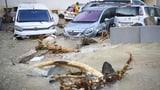 Überflutete Strassen nach Gewitter im Kanton Neuenburg (Artikel enthält Video)