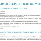 Hernani Marques, Chaos Computer Club Schweiz