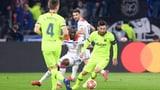 Messi und Co. beissen sich in Lyon die Zähne aus (Artikel enthält Video)