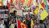 Mehrere tausend Personen an Kurden-Demo (Artikel enthält Video)