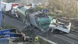 Bahnstrecke bleibt nach tödlichem Zugunglück weiter unterbrochen (Artikel enthält Video)