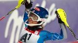 Video «Ski: Frauen-Slalom in Ofterschwang» abspielen