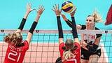 Schweizer Volleyballerinnen gegen Deutschland chancenlos (Artikel enthält Video)