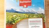St. Galler Berge auf Bündnerfleisch-Verpackung (Artikel enthält Audio)