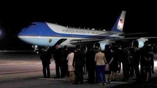 Trump und Kim in Singapur angekommen
