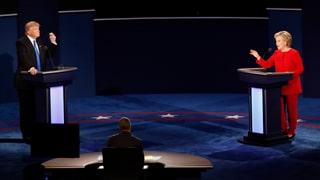 TV-Duell: Trump und die Erwachsene in einem Raum
