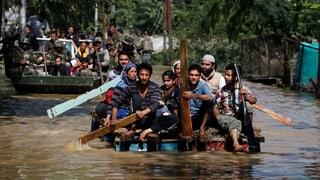 Massenflucht vor Flut in Pakistan