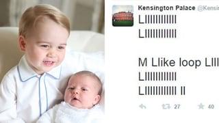 Ist das Prinz Georges erster Tweet?