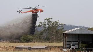 Feuerwalze vernichtet Ortschaft