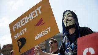 Protest gegen Schnüffelstaat