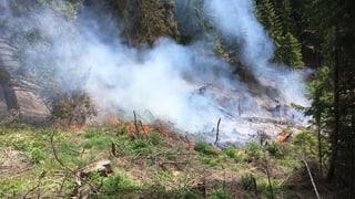 Incendi da guaud en Val Puschlav