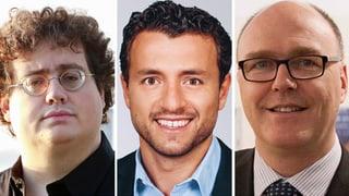 Drei Männer wollen in die Zuger Regierung