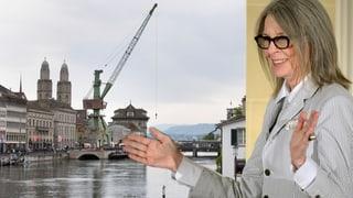 Hollywoodstar Diane Keaton findet Zürcher Hafenkran «fantastisch»