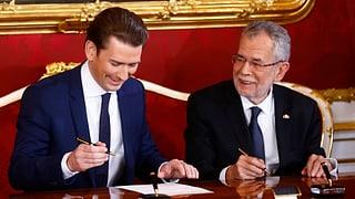 Sebastian Kurz als Bundeskanzler vereidigt