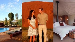 Liebesnacht am Ayers Rock: So romantisch nächtigen Kate & William