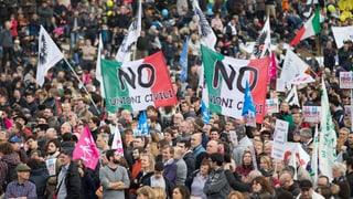 Grossdemonstration gegen Gleichstellung von Homo-Paaren in Rom