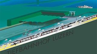 Luzern setzt beim Tiefbahnhof auf einen Durchgangsbahnhof