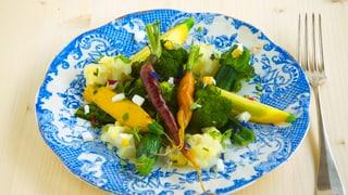 «Quer Beet an einer Vinaigrette» – lauwarmer Gemüsesalat
