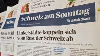 Die «Schweiz am Sonntag» verschwindet