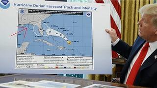 Trump zeigt per Hand manipulierte Hurrikan-Karte