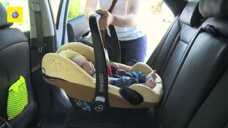 Jedes zweite Kind sitzt falsch im Auto