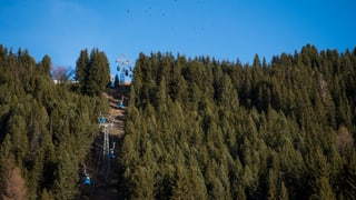 Skiorte ganz in Grün-Braun