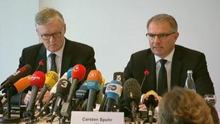Germanwings: Das Protokoll zu den beiden Medienkonferenzen